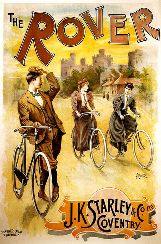 реклама постер велосипед дамы и джентельмен