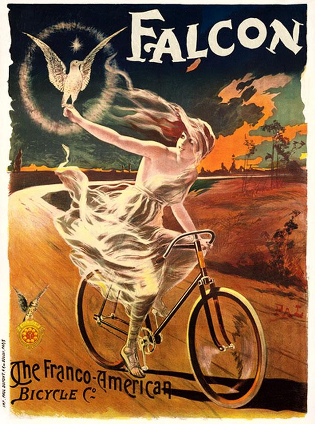 реклама постер велосипед девушка