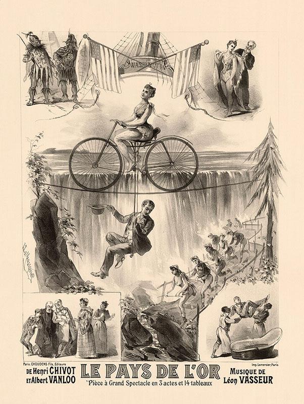 ретро реклама постер велосипед франция