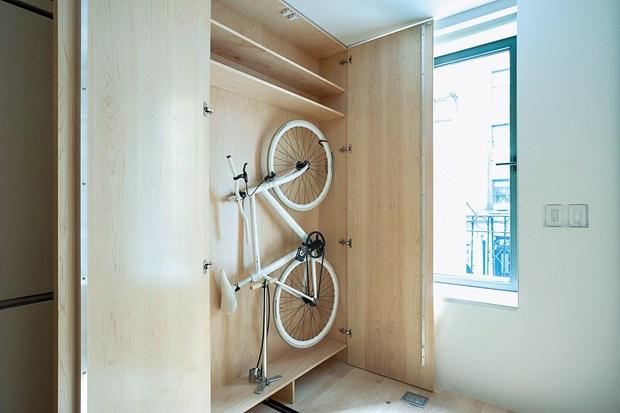 велосипед дизайн интерьера хранение велосипеда в шкафу