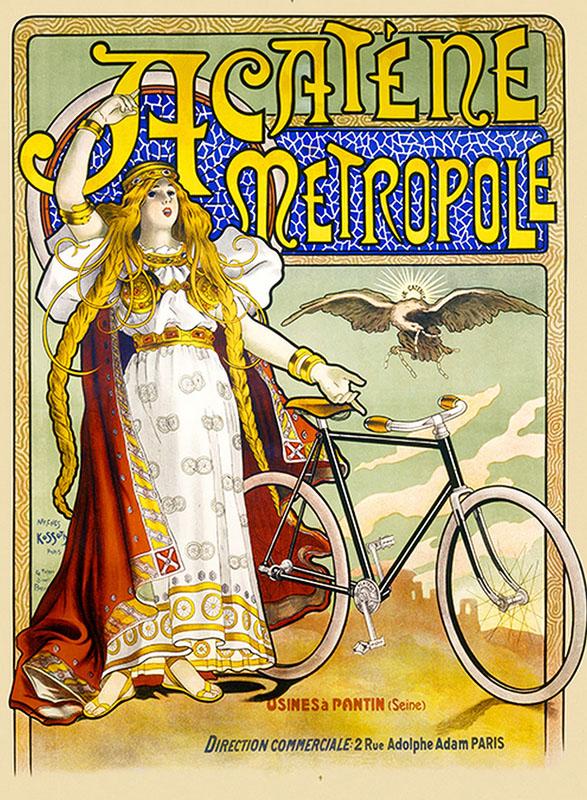 велосипеды постер реклама ретро