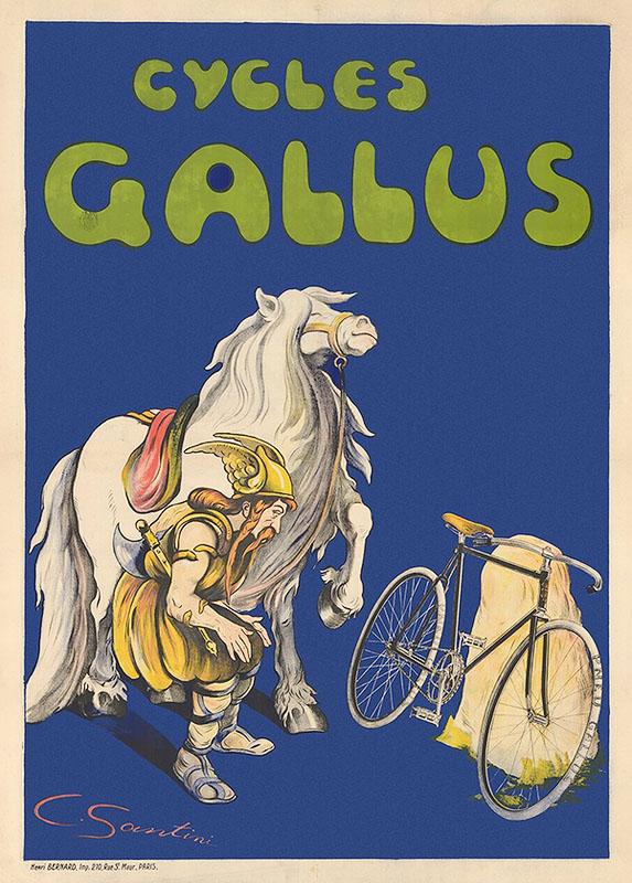 викинг постер велосипед ретро