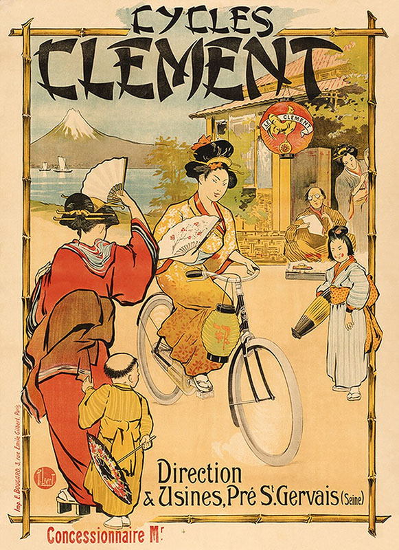 япония постер велосипед ретро
