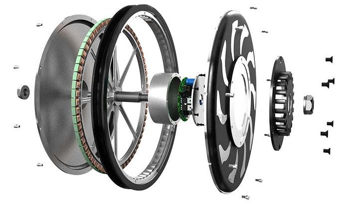 мотор-колесо Golden Motor в разборе