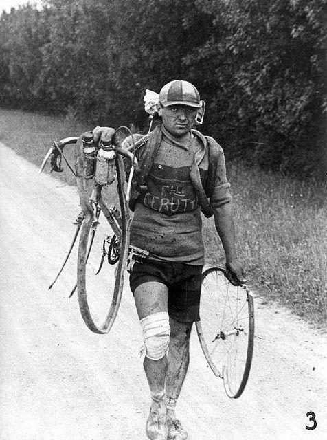 тур де франс поломка велосипеда история фотографии