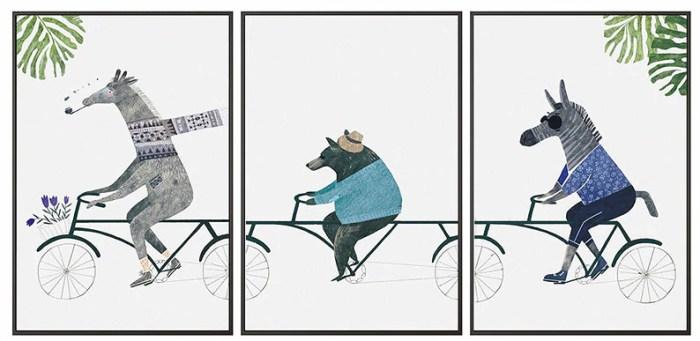 постер в детскую комнату велостиль