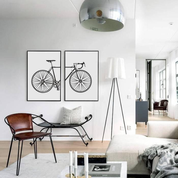 Постер шоссейный велосипед