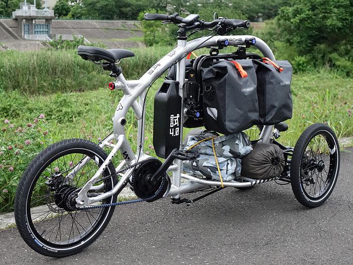 японский грузовой электровелосипед Stroke Cargo Trike