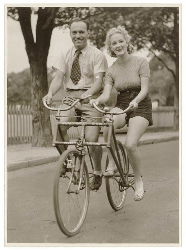 старинный велотандем