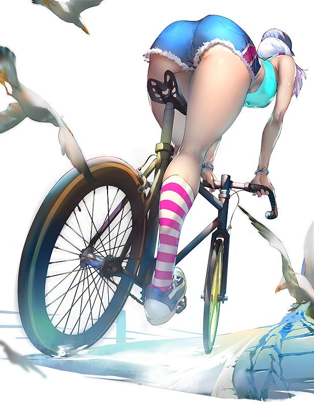 аниме девушка шоссейный велосипед эротика