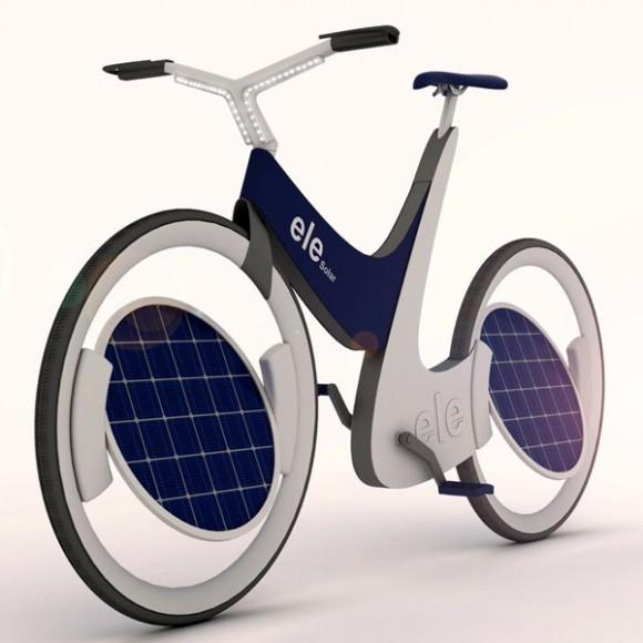 Электровелосипед на солнечной энергии Ele