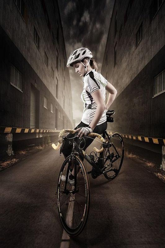 шоссейный велосипед девушка