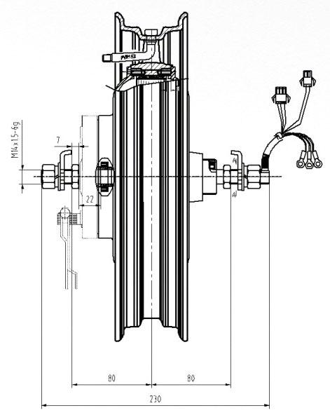 мотор для электромотоцикла DGW06