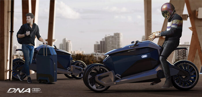 Audi DNA Concept электроскутер концепт