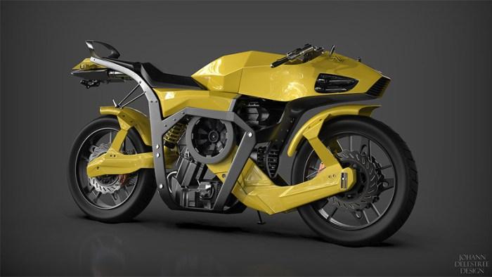 Электромотоцикл Futuristic motorcycle концепт