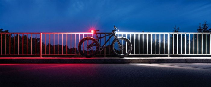 задний фонарь велосипеда