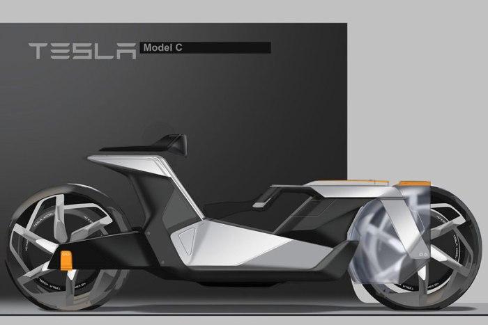 Концепт электромотоцикла Tesla Model C