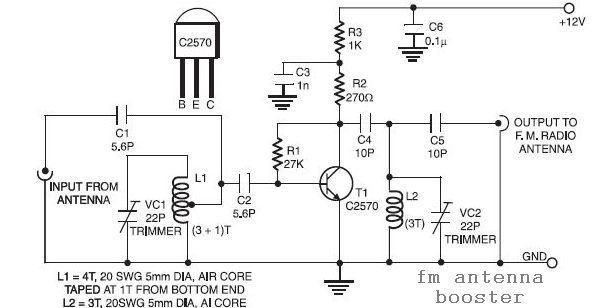 FM Antenna Booster Circuit