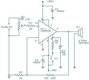 LM3886 Amplifier Circuit
