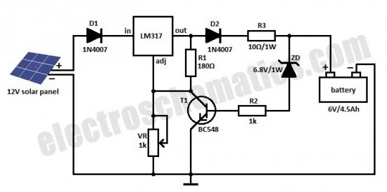 Solar Charger Circuit For 6V Battery