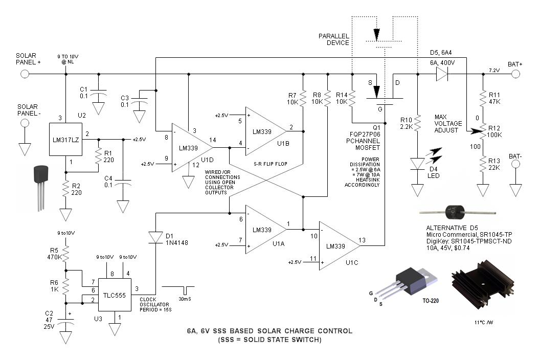 6V Solid State Switch Solar Charge Control