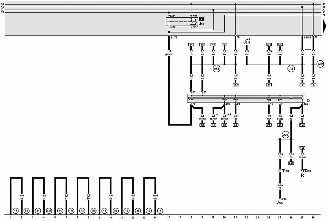 Audi A6 C6 Relay Diagram