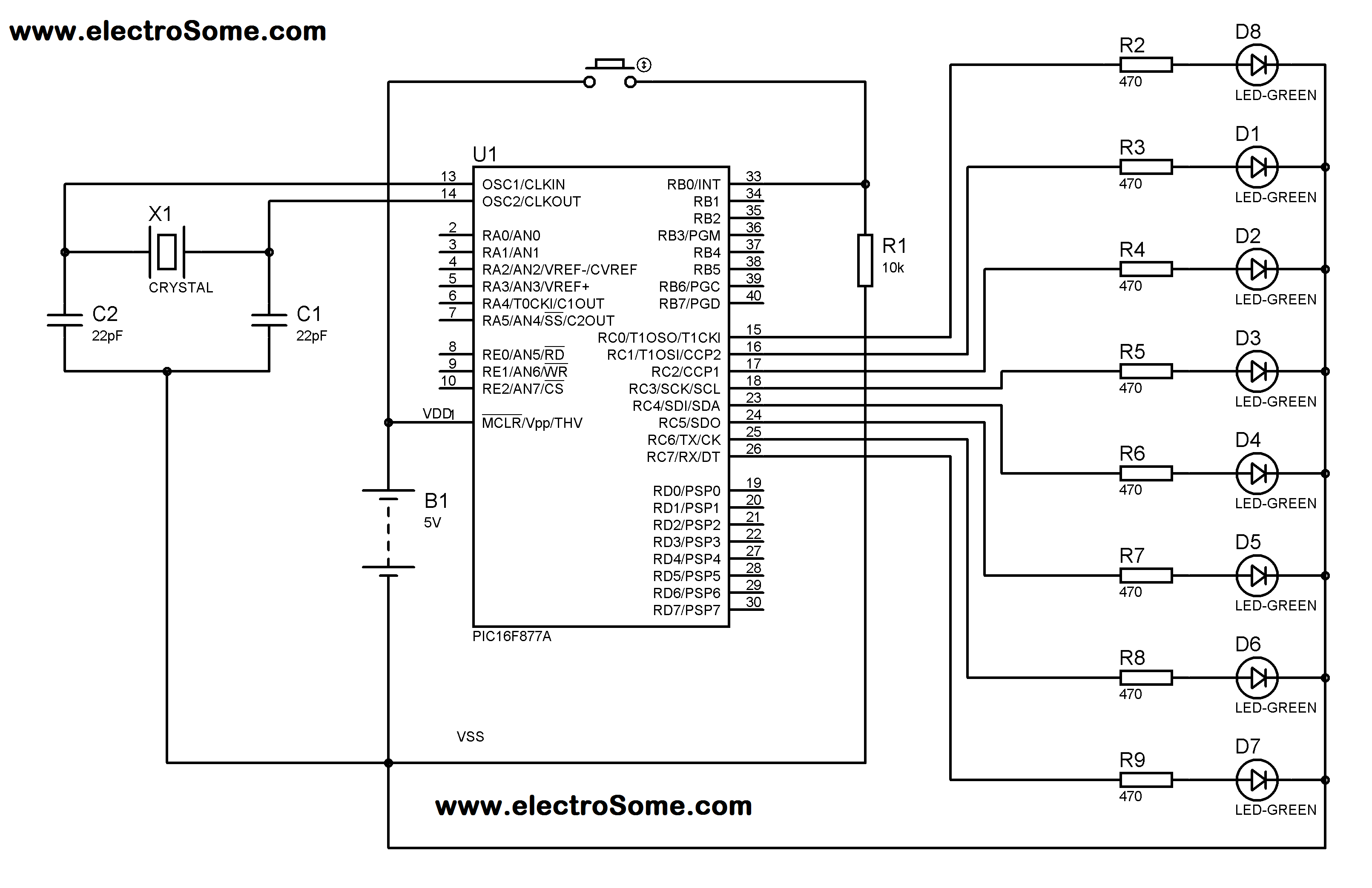 Pic Microcontroller 16f877 Block Diagram Explanation