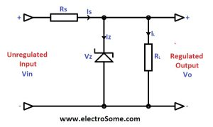 Zener Diode Voltage Regulator
