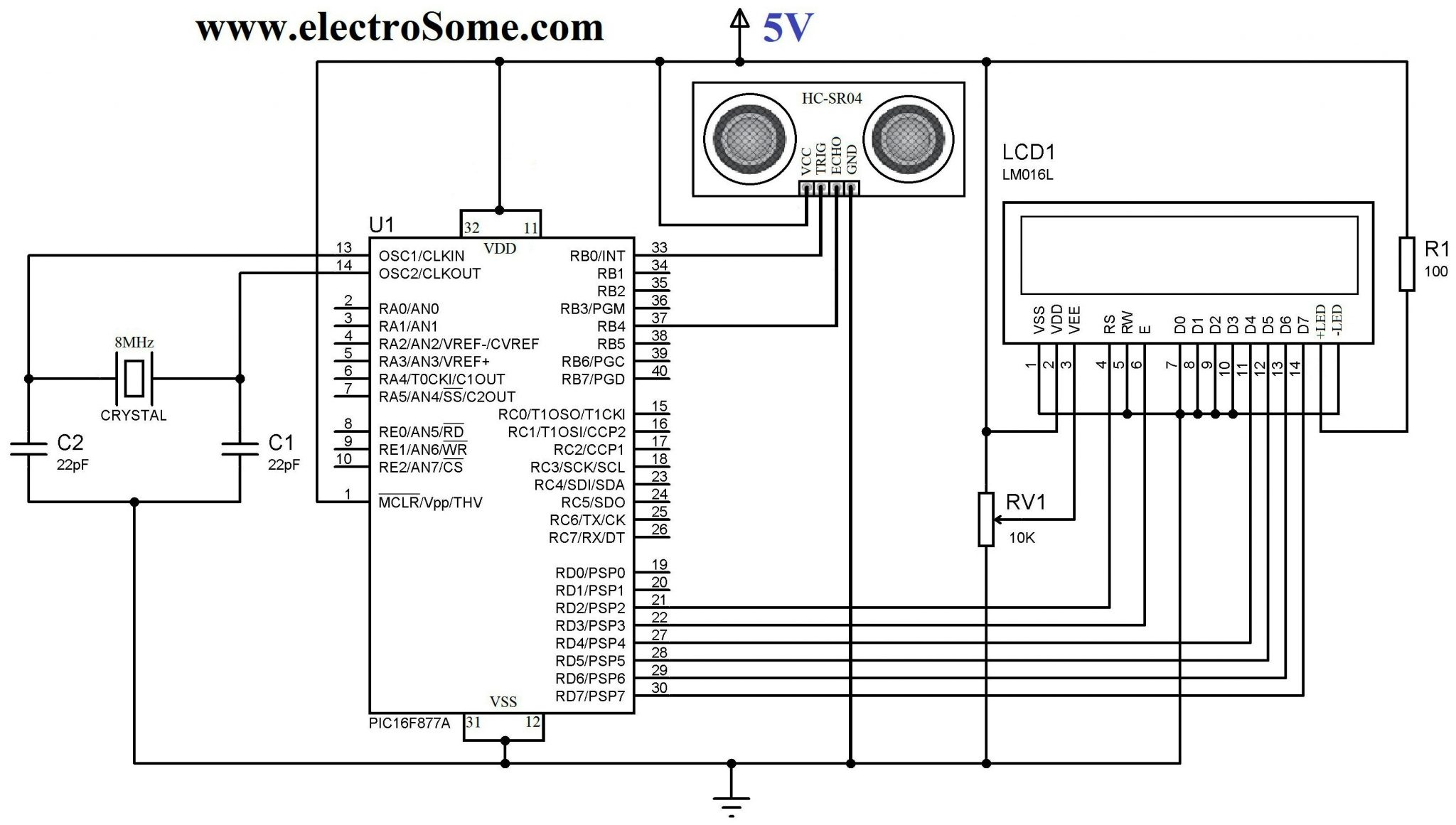 Interfacing Hc Sr04 Ultrasonic Sensor With Pic Microcontroller