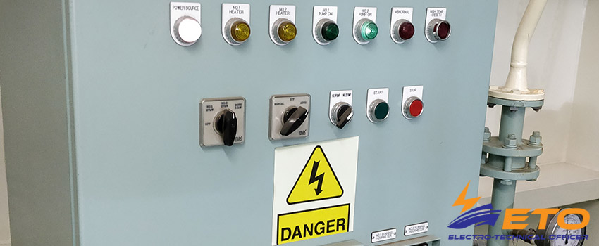 Danger of electric shock on ship