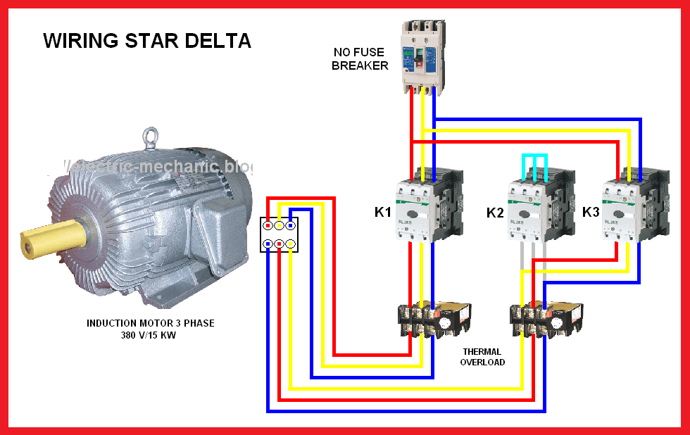 3 Phase Delta Motor Connection Diagram - Today Wiring Schematic Diagram