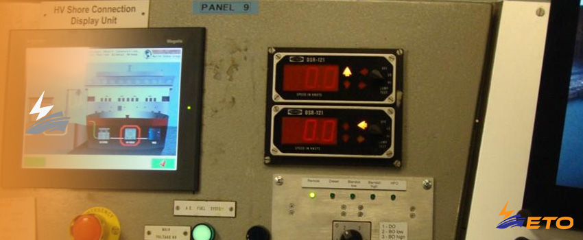 Fault on ship power shore connection