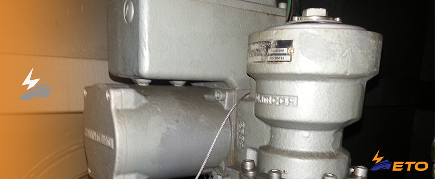 Wrong adjustment on ship actuator cause flooding of ship engine room