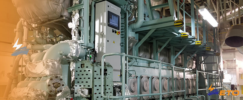 Electrical power output on 3-phase ship generator