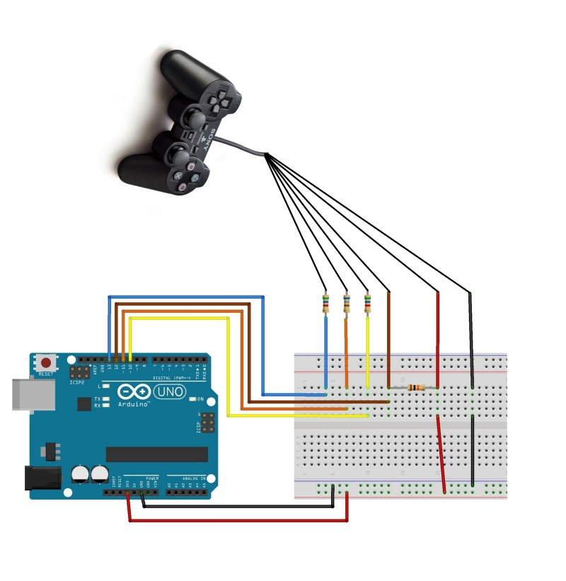 fritzing schema ps2 arduino
