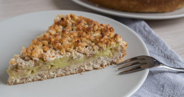 Torta sbrisolona con mele e crema di limone