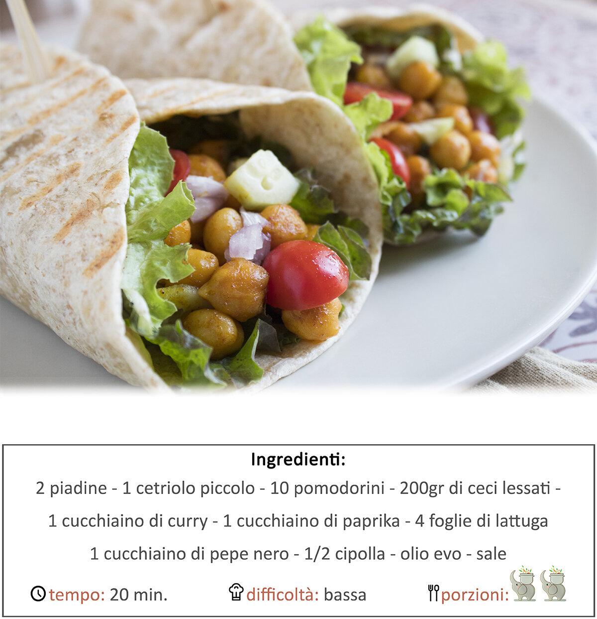Tacos ai ceci speziati