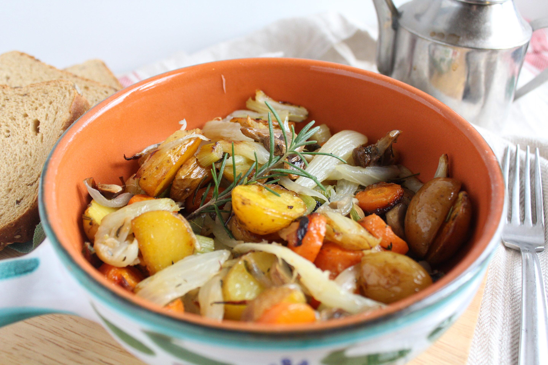 Verdure rustiche al forno