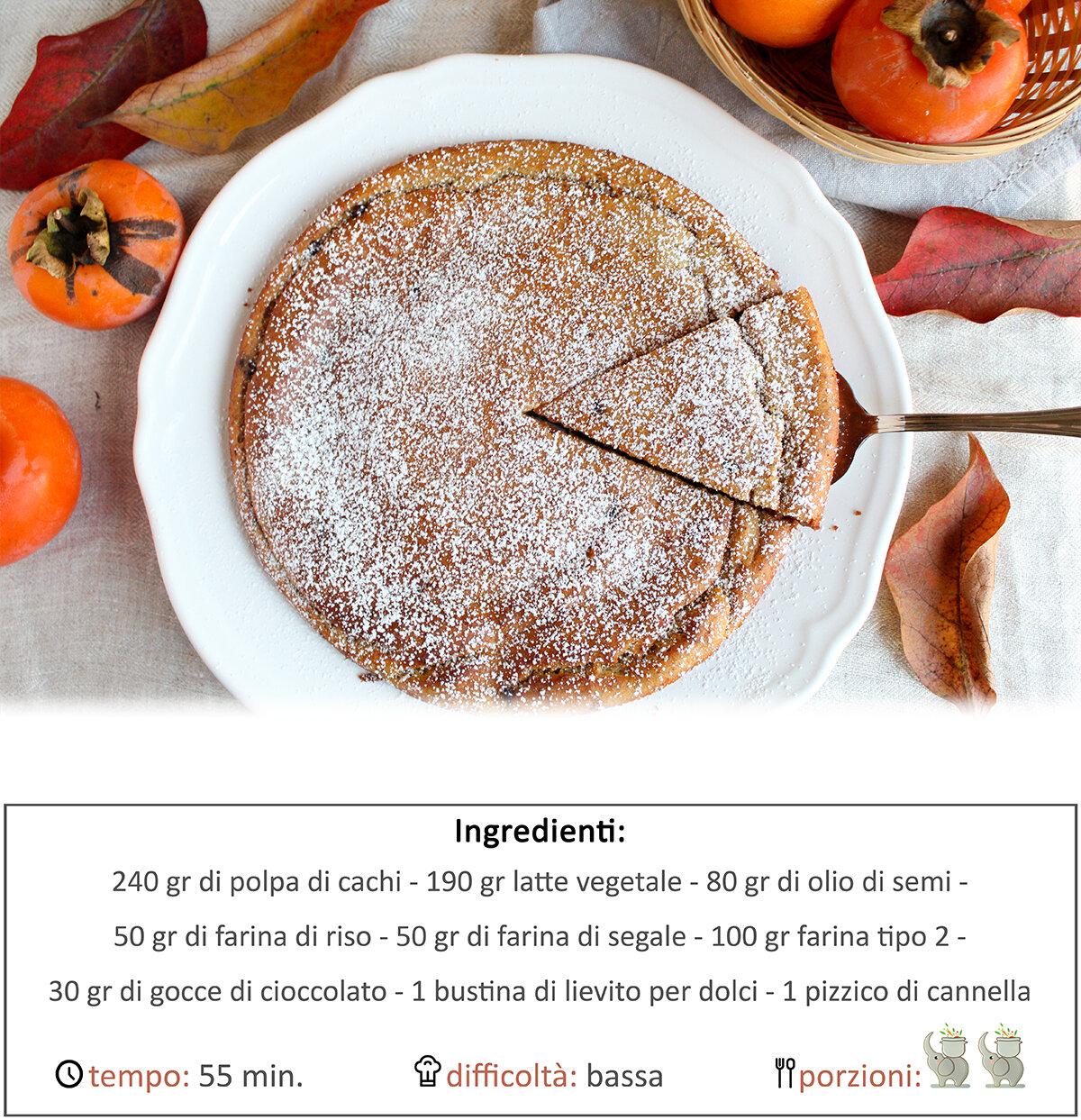 torta di cachi senza zucchero