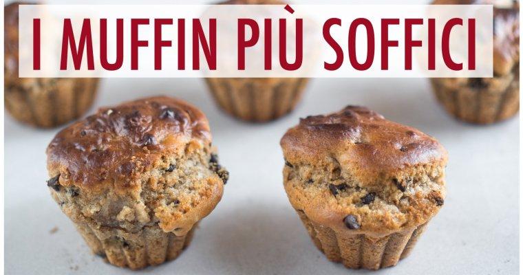 Muffin soffici pere e cioccolato