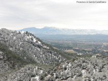 Nevada del 19-12-09 en el Parque Regional El Valle y Carrascoy con Sierra Espuña al fondo