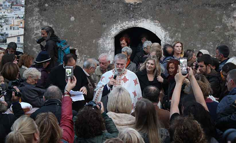 Οι Ελευσίνιοι τίμησαν το έθιμο της «Παναγίας Μεσοσπορίτισσας»