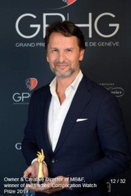 Maximilian Busser (Owner & Creative Director, MB&F) winner of the ladies complication watch prize 2019
