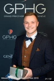 Henri Cartier (Student at Ecole d'Horlogerie de Genève) winner of the young student prize 2019