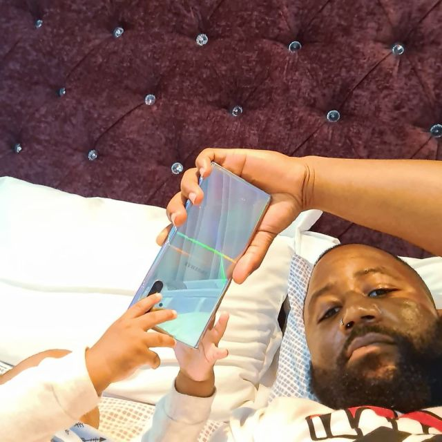 Pics: Cassper Nyovest's son joins the Samsung family