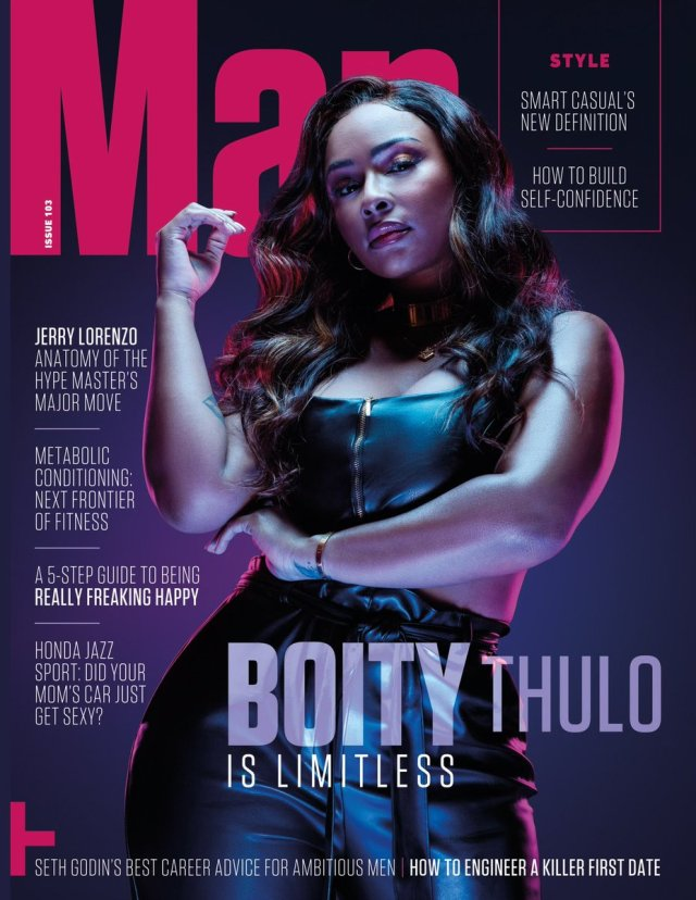 Boity Thulo graces the cover of Man Magazine South Africa