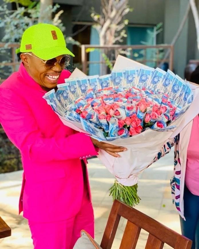 Somizi Gets A Bouquet With 12K From Secret Admirer