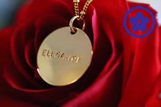 Gold Name Necklace by Jenny Present