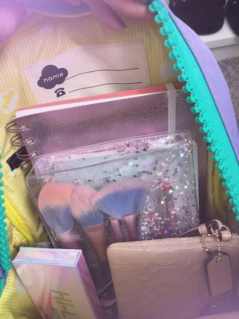 inside my backpack