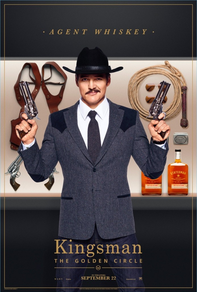 Kingsman-The-Golden-Circle-Poster-Pedro-Pascal-Agent-Whiskey